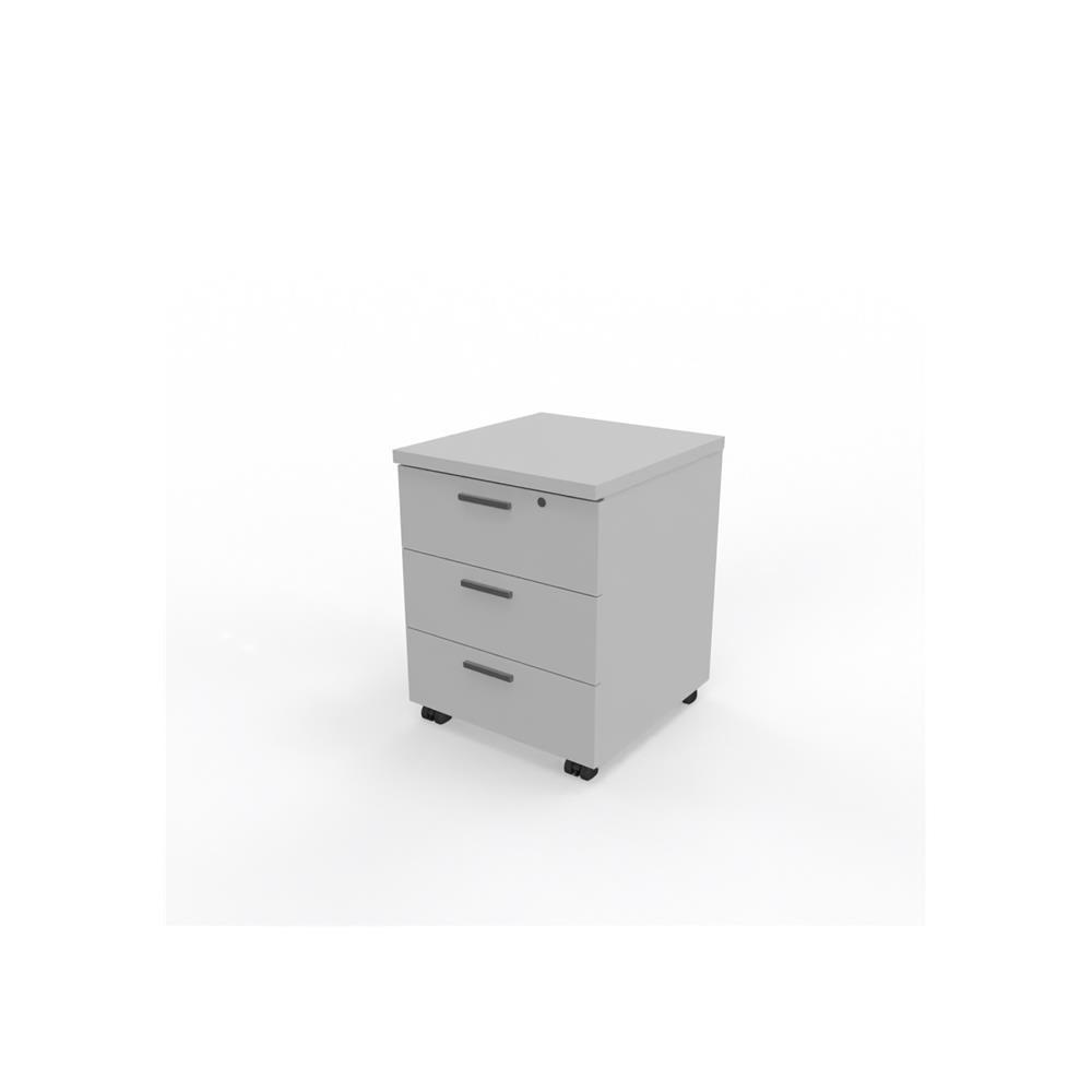 Align Studio Econo 3 Draw Mobile Pedestal- White