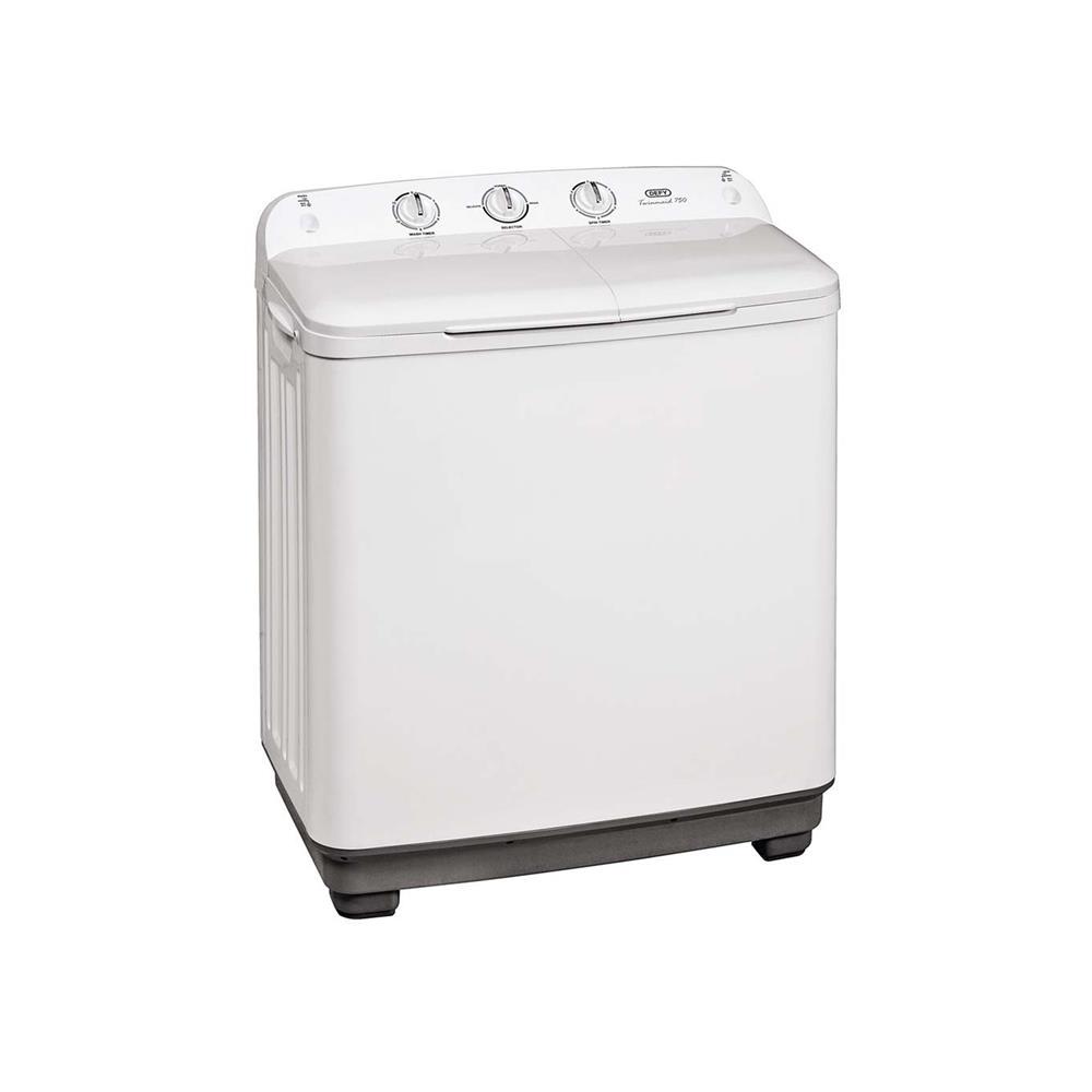 Defy 7,5kg Twin Tub Washing Machine - White
