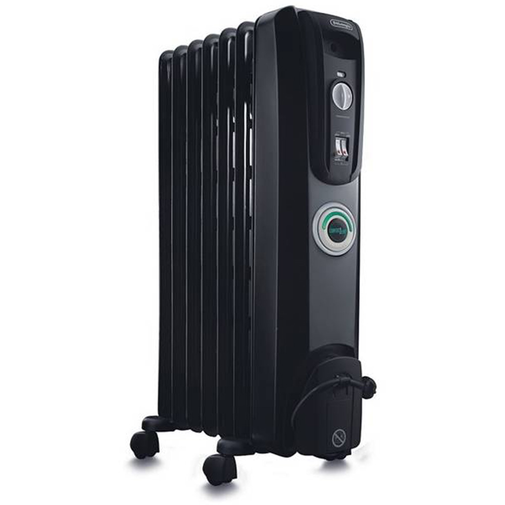 Delonghi 7 Fin Oil Heater - Black