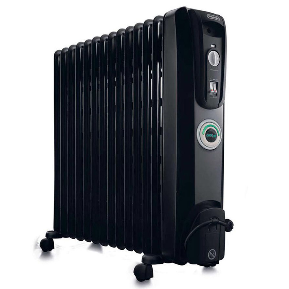 Delonghi 12 Fin Oil Heater - Black
