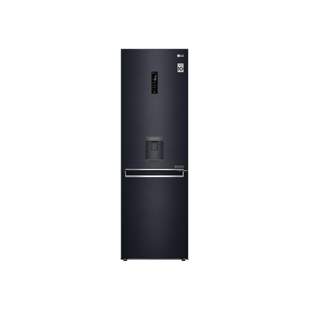 LG 373L Bottom Freezer Top Fridge - Matte Black