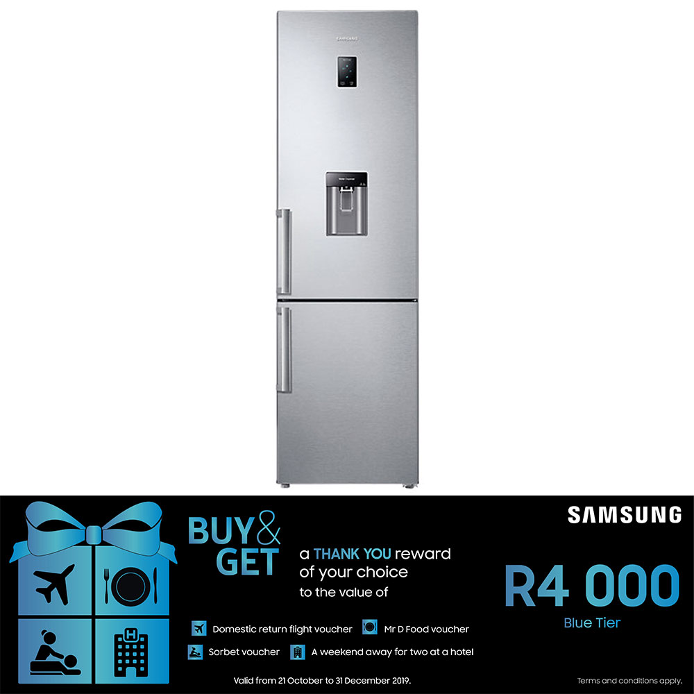 Samsung 367L Top Fridge Bottom Freezer with Space Max Technology - RB37J5942S