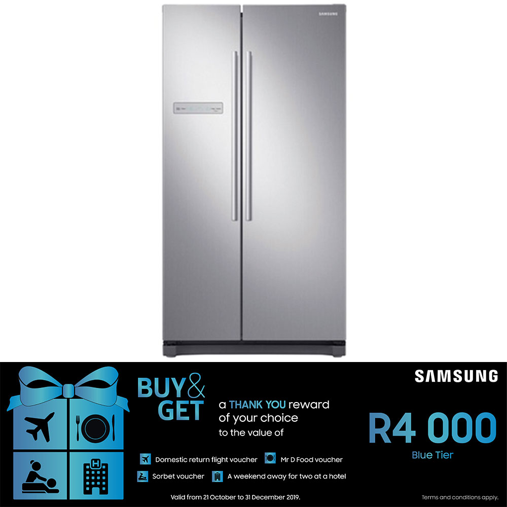 Samsung 540L Side by Side Fridge with Digital Inverter Technology - RS54N3A13S8