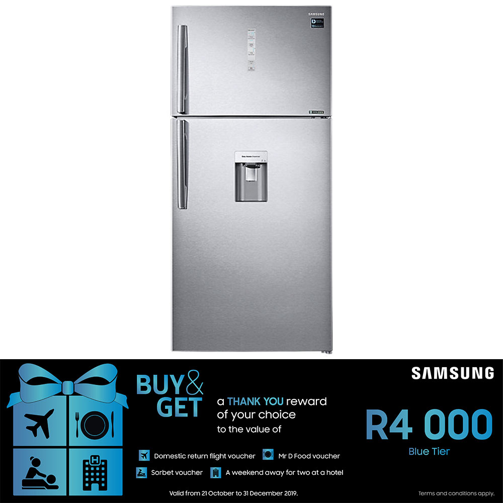 Samsung 620L Top Freezer Fridge with Twin Cooling Plus - RT62K7110SL