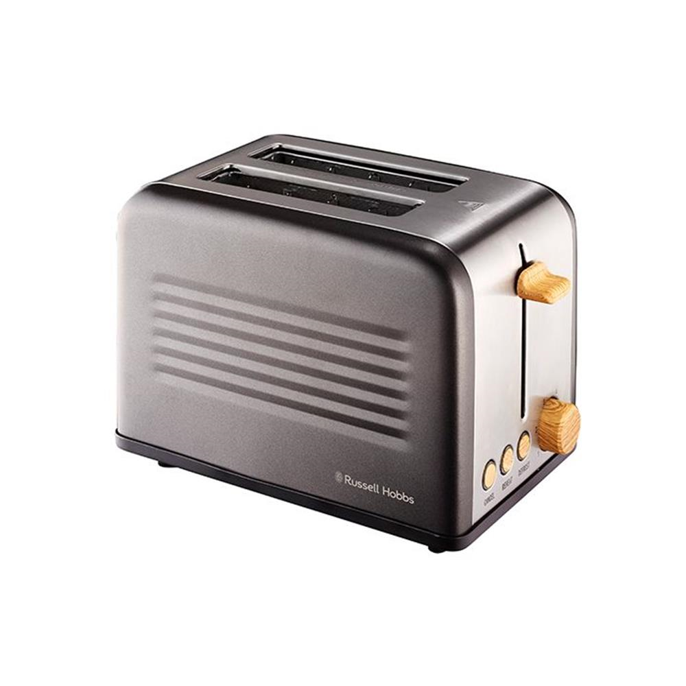Russell Hobbs 2 Slice Rustic Wood Toaster