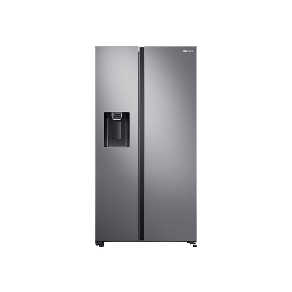 Samsung 617L Net Side by Side Fridge/Freezer with Water and Ice Dispenser - Gentle Silver