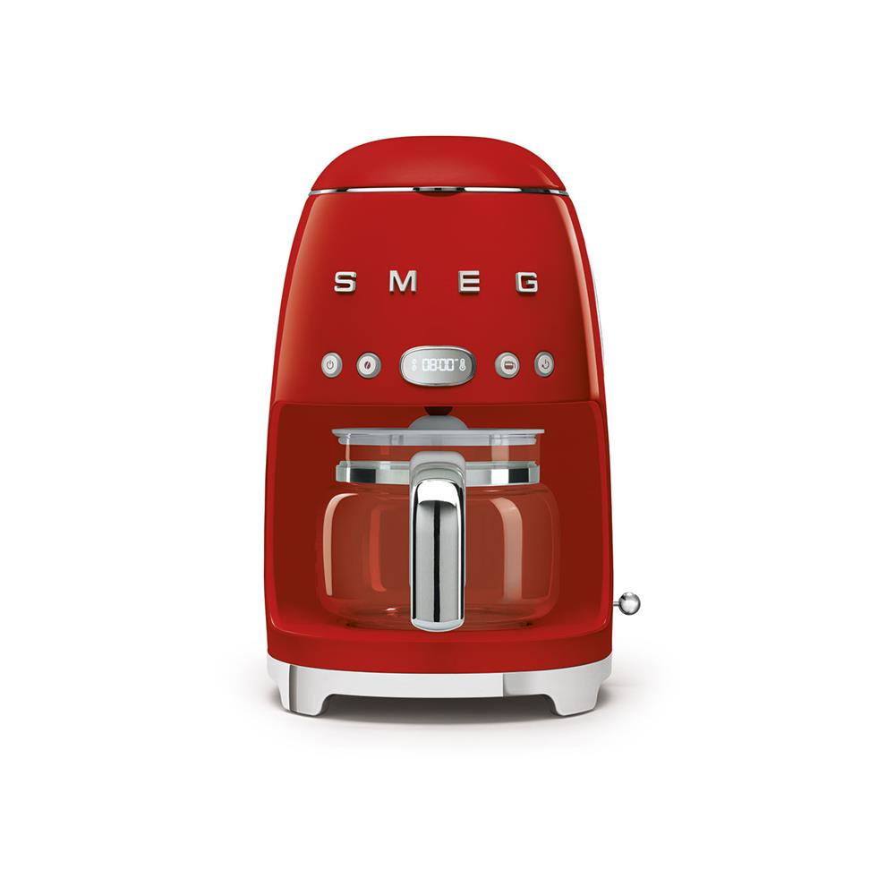 Smeg 50's Style Retro Drip Filter Coffee Machine - Glossy Red