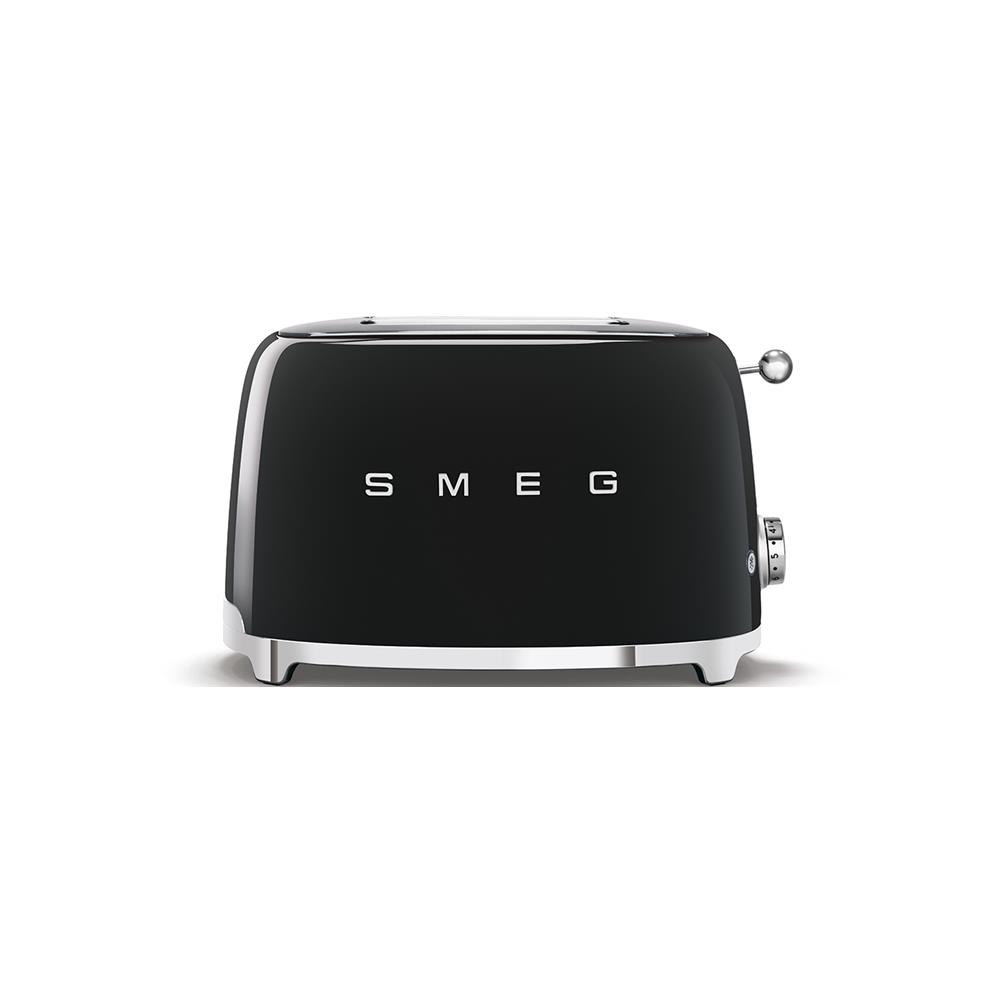 Smeg 50's Style Retro 2 Slice Toaster - Glossy Black
