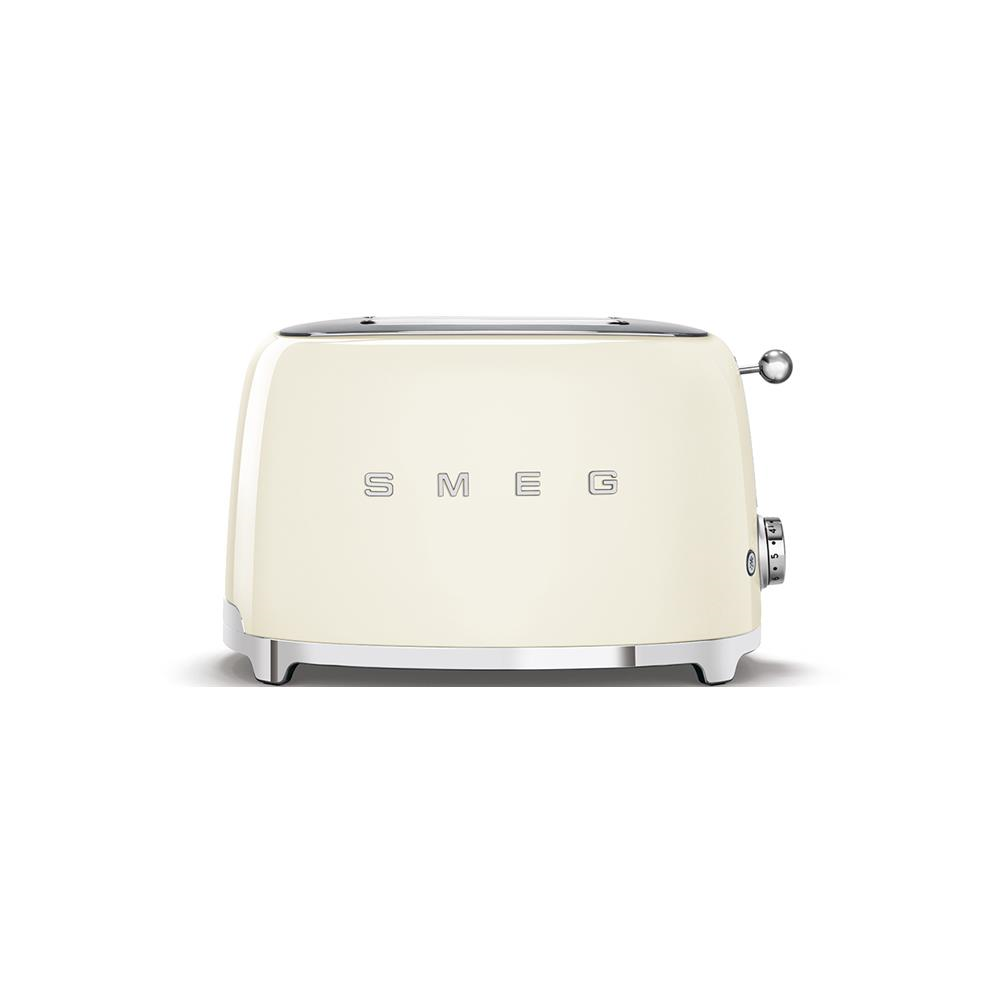 Smeg 50's Style Retro 2 Slice Toaster - Glossy Cream